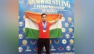 Para-athlete Shrimant Jha bags bronze at Asian Armwrestling C'ship