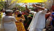 हल्दी रस्म में विद्या के गाने पर नाचे मिलिंद और अंकिता, Video हुआ वायरल
