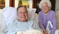 Former US President George H.W. Bush hospitalised with blood infection, a day after wife Barbara's funeral
