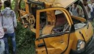 UP: 13 children died after school van collided with a moving train in Kushinagar