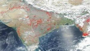 गर्मी आते ही आग की चपेट में भारत, नासा ने जारी की तस्वीर