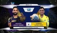 IPL 2018,KKR vs CSK:  केकेआर का टॉस जीतकर गेंदबाजी का फैसला, चेन्नई के सामने है ये बड़ी चुनौती