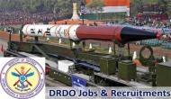 DRDO में निकली भर्तियां, 50 हजार से ज्यादा मिलेगी सैलरी