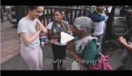 श्रद्धा कपूर ने बुजुर्ग महिला के सामने कुछ ऐसे जोड़े हाथ, देखें वीडियो