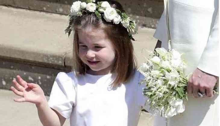 Watch Royal Wedding: Princess Charlotte is a 'show stopper', waves off as Prince Harry and Meghan Markle depart church in carriage
