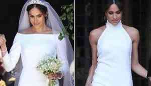 Meghan Markle wore a sexy Stella McCartney dress for her evening reception at Frogmore House