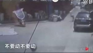 Viral Video: Man runs to save girl falling from building in China