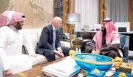 Saudi Crown Prince Salman 'kicks death rumours out of the window' by meeting FIFA president Gianni Infantino in Jeddah