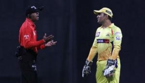 The moment when captain cool MS Dhoni lost his calm and fought with umpire, watch video