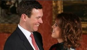 Another royal wedding! Princess Eugenie sends a sweet 'love' message to fiance Jack Brooksbank