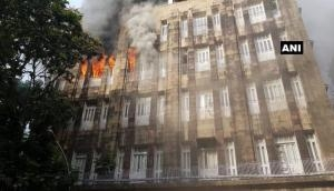 Breaking News! Massive fire breaks out in South Mumbai's Scindia House office building near Fort area; rescue operation underway.