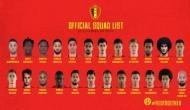FIFA World Cup 2018: बेल्जियम की 23 सदस्यीय टीम हुई घोषित