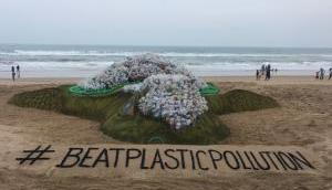 World Environment Day 2018: Sand artist Sudarsan Pattnaik creates world's biggest sand turtle at Puri Beach