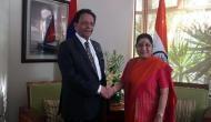 Sushma Swaraj, Mauritius Defence Minister discuss maritime cooperatio