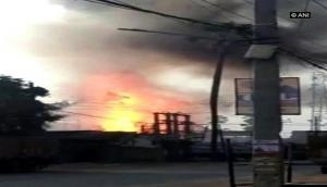 Patna: Fire breaks out in LNG godown