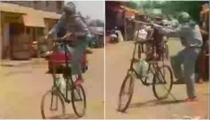 जब सड़क पर चलती है ये साइकिल तो थम जाते हैं गाड़ियों के चक्के, ये है वजह