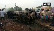 Andhra Pradesh: Traffic jam on NH 26 after oil tanker hits transformer