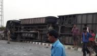 मैनपुरी में बड़ा सड़क हादसा, अनियंत्रित बस पलटने से 17 लोगों की मौत