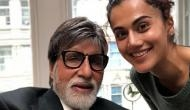Badla: Taapsee Pannu and Amitabh Bachchan's first picture from the sets out