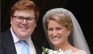 Stunning! Celia McCorquodale wore same tiara that Princess Diana wore at her own nuptials