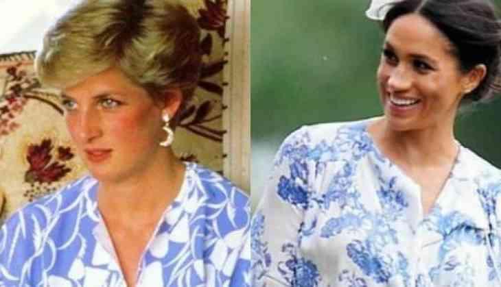 057357733b28 Meghan Markle matched Princess Diana in her floral Oscar de la Renta ...