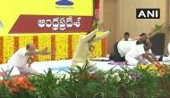 International Yoga day: Andhra Pradesh CM performs Yoga in Amaravati