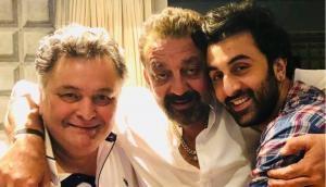 Ranbir Kapoor, Alia Bhatt, Rishi Kapoor came to meet Sanjay Dutt at his home before Sanju release, see pics