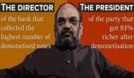 राहुल गांधी ने अमित शाह को 'नोटबंदी घोटाला' करने पर दी बधाई
