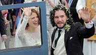 Wow! Game of Thrones fame Kit Harington aka John Snow and Rose Leslie aka Ygritte said 'I Do'  in Scotland; here are some mesmerizing pics