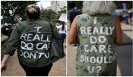 Immigration protests: Demonstrators sport 'I really do care' t-shirts