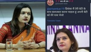 Congress spokesperson Priyanka Chaturvedi gets rape threat for her 10-year-old daughter on Twitter; approaches police, files complaint