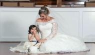The 3-year-old cancer survivor becomes flower girl at bone marrow donor's wedding