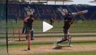 दूसरे T20 से पहले कोहली-धोनी का नेट प्रैक्टिस करते वीडियो आया सामने