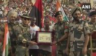 Ultra-Marathon runner gets felicitated at Attari-Wagah border