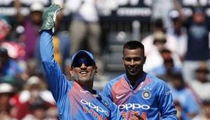 MS Dhoni reacts to Hardik Pandya's version of 'Helicopter Shot': Watch Video