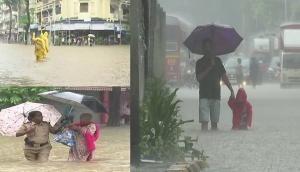 मुंबई में भारी बारिश से बाढ़ जैसे हालात, रेल की पटरियां डूबी, स्कूल कॉलेज बंद
