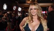 Adult film star Stormy Daniels strips near White House while Donald Trump chose Brett Kavanaugh as Supreme Court nominee