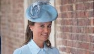 Pregnant Pippa Middleton flaunted her baby bump in pastel blue dress for her nephew's christening