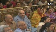 Amit Shah attends 'Mangal Arti' at Jagannath temple in Ahmedabad