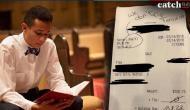 ग्राहक ने बिल पर लिखा- मैं आतंकी को टिप नहीं देता, मुस्लिम वेटर ने Facebook पर बयां किया दर्द