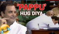 No-trust Motion: Rahul Gandhi gave 'jadu ki jhappi' to PM Modi in Lok Sabha; Twitterati said 'Pappu hug diya'