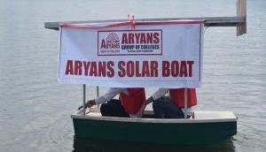 Kashmiri students make solar boat for Dal Lake