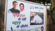 मुंबई की सड़कों पर लगे राहुल-मोदी की झप्पी के पोस्टर, लिखा- नफरत से नहीं प्यार से...