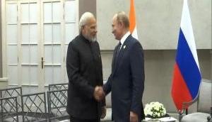 PM Modi meets Russian President Putin