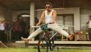 MS Dhoni's hilarious stunt on bicycle leaves fans confused; watch video
