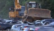 Viral Video: Luxury vehicles including Porsches and Lamborghinis worth $5.5 Million destroyed by bulldozer