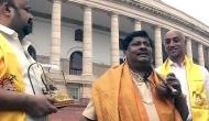 TDP leader dons Hitler's look to protest over special status for AP