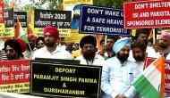 Delhi: Protest staged outside British High Commission against 'Referendum 2020'