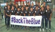 Triumphant U20 men's football team returns home