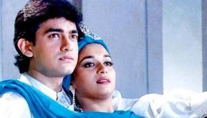 फिल्म 'दिल' की शूटिंग के दौरान माधुरी ने हॉकी लेकर आमिर को खूब...